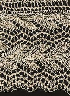#101 Amy's Double Leaf Lace Knitted leaf lace edging
