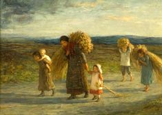 Gleaners ~Hugh Cameron (1835 – 1918, Scottish) I AM A CHILD-children in art history-blog