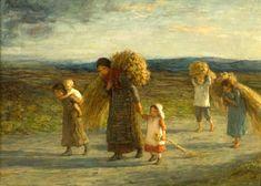 Gleaners ~Hugh Cameron (1835 – 1918, Scottish) I AM A CHILD-children in art history-blog