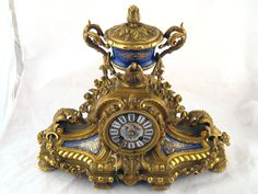 An impressive gilt bronze mantel clock, sold for Auction Items, Sell Items, Antique Silver, Clock, Bronze, Antiques, Jewelry, Watch, Antiquities