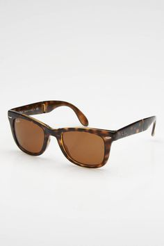 b563f2f5076b Ray Ban Folding Wayfarer Sunglasses In Havana Wayfarer Sunglasses