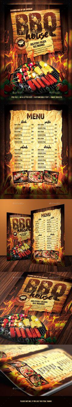 ○ [Get Free]◗ Barbecue / Steak Menu Barbecue Barbeque Bbq Bbq Flyer Bbq Menu Bbq Party Restaurant Menu Design, Restaurant Recipes, Cafe Restaurant, Barbacoa, Bbq House, House Cafe, Steak Menu, Food Menu Template, Menu Templates