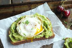 Skinny Fried Egg and Avo Toast - for weeks 2 & 3 - substitute the ciabatta bread with whole wheat.