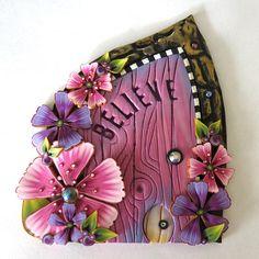 Believe Fairy Door with a Pet Door by Claybykim Polymer Clay