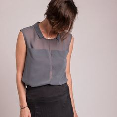 SquareShaped Shirt  Two Large Front Pockets Shirt por GUSTASTORE, $95.00