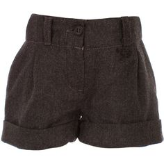 Junior - Pleated Front Shorts ($53) ❤ liked on Polyvore