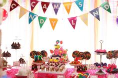 Candy Land Guest Dessert Feature | Amy Atlas Events