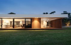 Timber and glass pavilion by InForm