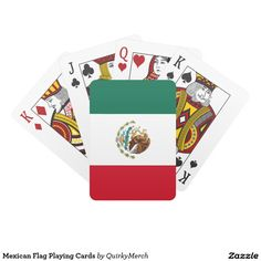 Mexican Flag Playing Cards