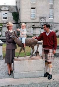 December, 1983 Prince Charles, Princess Diana & Prince William's Christmas card photographed at Balmoral.