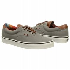 Athletics Vans Men s Era 59 Sneaker Steel Gray Stripe Shoes.com On Shoes 2d9b83c01