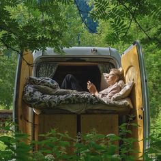 """""""Slide the draws and bed out. And voila we have a sun bed. We didn't intend it to work like that but imagination led the way."""" By @thegrowingvan Thanks for TAGging us #vanlifers @vanlifers"""