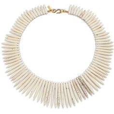 Rental Kenneth Jay Lane White Candelaria Necklace ($15) ❤ liked on Polyvore featuring jewelry, necklaces, spike jewelry, long necklace, long spike necklace, kenneth jay lane necklace and white necklace