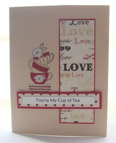 Designs for Occasions: A Cup of Tea for My Valentine.  Like everything about this but the teacups, but I'm sure I could find others.