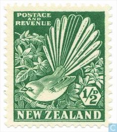 Postage Stamps - New Zealand - Fantail