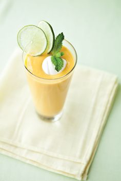Lassi is a popular Indian drink made with yogourt. It is traditionally served chilled as a lunch accompaniment. Try this mango lassi. alive.com