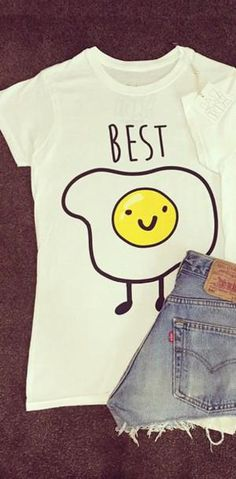 Kiwi 2016 Summer Cute Hearts T-shirt Women Tumblr Hipster Cool Tee Shirts BFF Jazrox TOP White Best Friends T shirt