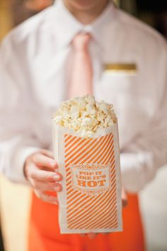 """Pop it like it's hot"" popcorn bags by Calder Clark 