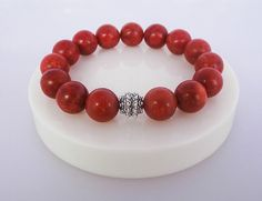 Red Coral Bracelet by KartiniStudio on Etsy