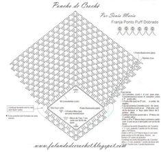 Häkeln Poncho - crochet , FALANDO DE CROCHET: PONCHO DE CROCHE