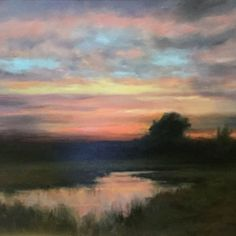 Dennis Sheehan- Twilight's Last Gleaming, Oil, 20 x 29 inches, SOLD