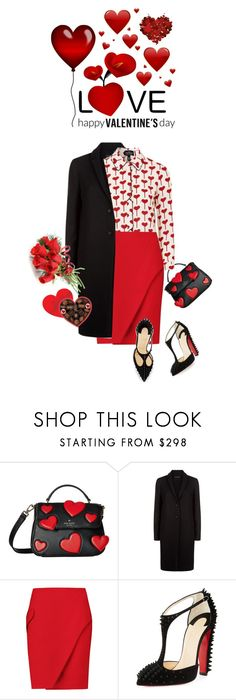 """Happy Valentine's Day"" by shortyluv718 ❤ liked on Polyvore featuring Kate Spade, The Row, Carven, Christian Louboutin and valentinesday"