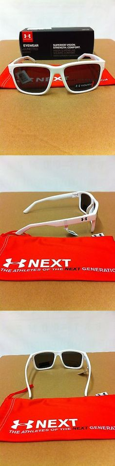 Sunglasses 131411: Under Armour Rookie Shiny White Grey Youth Sunglasses Make Offers -> BUY IT NOW ONLY: $45.99 on eBay!