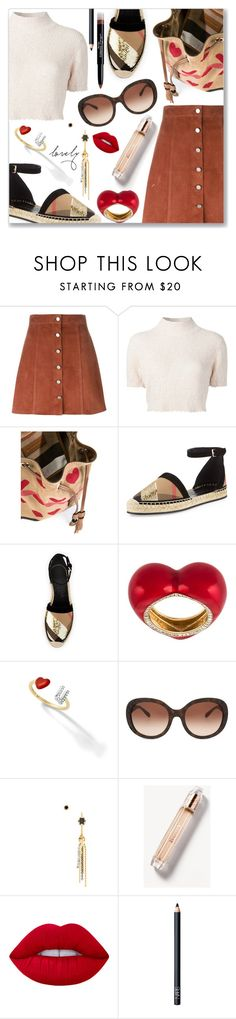 """Outfit of the Day"" by dressedbyrose ❤ liked on Polyvore featuring Theory, Rachel Comey, Burberry, Alison Lou, Iosselliani, Lime Crime, NARS Cosmetics, Givenchy and polyvoreeditorial"