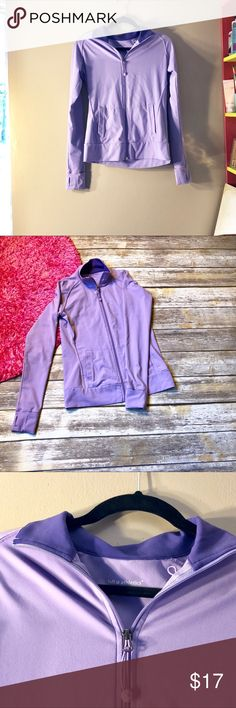 💝Tuff Athletics Lilac workout zip up Tuff Athletics Liliac workout zip up. Size medium. Has thumb holes on wrist for a comfortable fit. Also has a headphone slot on the inside of pocket in order to keep phone safe during workout. ::032 Tuff Athletics Sweaters Crew & Scoop Necks
