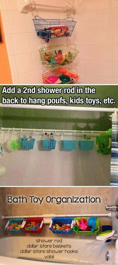 #11. Store and organize child's bath toys.