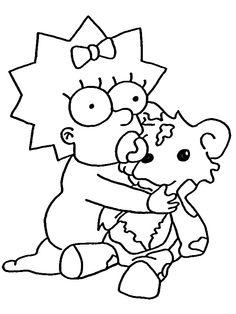 Ausmalbilder Die Simpsons 16