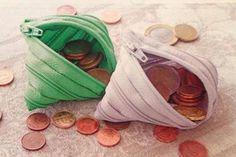 Mini-ZIP utilizzato come portamonete
