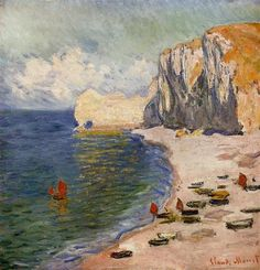The Beach and the Falaise d'Amont - Claude Monet