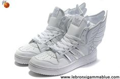 Buy Latest Listing Adidas X Jeremy Scott Wings 2.0 Shoes White Silver Fashion Shoes Shop