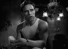 "Marlon Brando in ""A Streetcar Named Desire"""