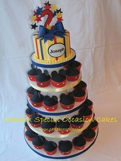 Mickey Mouse Birthday Cake idea for Elijah