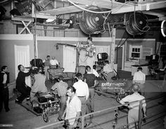 A behind-the-scenes production shot on set of I Love Lucy. Cameras take aim on Desi Arnaz and William Frawley. Image dated September 21, 1951.