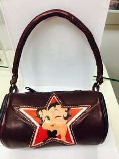 Handmade Genuine Leather Betty Boop Girl Purse- Handcrafted #Handmade #BettyBoopRoundpapillonStyle