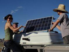 Solar Panels on a Fiberglass Roof