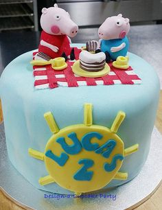 Peppa pig birthday theme Lucas