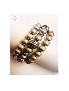 Silver Plated Metal Stretch Bracelet - Upcycled Jewellery - £25.00