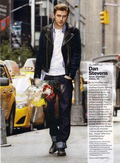 bottle-of-95-margaux:    Dan Stevens- Glamour(U.S.)    Are those flowers for our heartbroken fandom?
