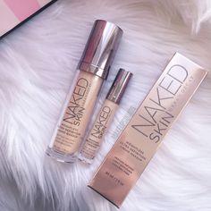 Urban Decay Naked Skin Foundation and Concealer Kiss Makeup, Beauty Makeup, Eye Makeup, Makeup Brushes, Gold Makeup, Drugstore Beauty, Contour Makeup, Makeup Dupes, Prom Makeup