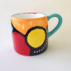 Hand Painted Mugs, Tea Cups, Ceramics, Tableware, Painting, Products, Ceramica, Pottery, Dinnerware