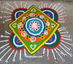 happy new year diwali traditional rangoli Onam floral Rangoli with dots designs 2018 Happy New Year Sms, Happy New Year Quotes, New Year Greeting Cards, New Year Greetings, New Year Love Messages, Traditional Rangoli, New Year Rangoli, Happy New Year Love, Rangoli Designs Images