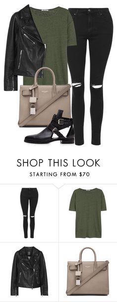 """*"" by biebersplayer ❤ liked on Polyvore featuring Topshop, T By Alexander Wang, Lot78, Yves Saint Laurent, women's clothing, women's fashion, women, female, woman and misses"