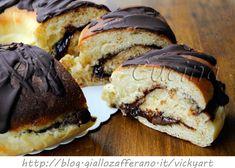 Ciambella di brioche alla nutella e arancia senza burro vickyart arte in cucina