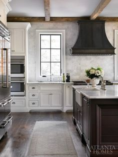 Zinc Kitchen Hood - Design photos, ideas and inspiration. Amazing gallery of interior design and decorating ideas of Zinc Kitchen Hood in kitchens by elite interior designers. Atlanta Homes, Beautiful Kitchens, House Design, Home, Kitchen Remodel, New Homes, Home Kitchens, Kitchen Hoods, Kitchen Design