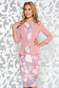 StarShinerS rosa elegant pencil dress slightly elastic fabric with floral prints Pencil Dress, Peplum Dress, What Should I Wear Today, Product Label, Soft Fabrics, Floral Prints, October 19, My Style