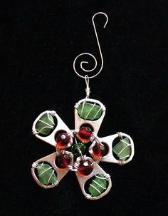 Sea Glass Christmas Ornament Sea Glass Suncatcher by oceansbounty